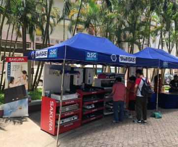 On 21st December 2019 (Sat), Sakura joins the DSG Shell LPG Appliances roadshow at Wonderland Villas.  A full range of Sakura appliances, ranging from gas cooker, built-in hob, rangehood, gas water heater and dish sterilizer is on promotion.  Please come and visit us.