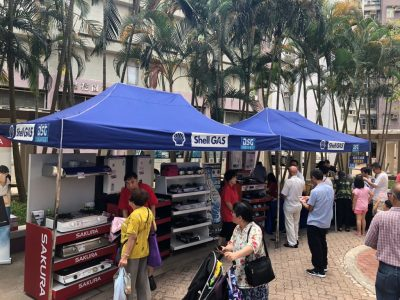 On 11 January 2020 (Sat), Sakura joins the DSG Shell LPG Appliances roadshow at Ching Lai Court.  A full range of Sakura appliances, ranging from gas cooker, built-in hob, rangehood, gas water heater and dish sterilizer is on promotion.  Please come and visit us.
